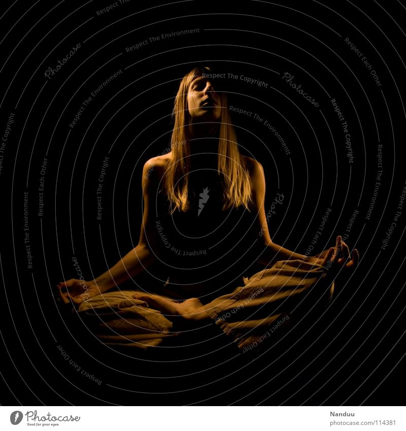Woman Dark Transience End Peace Eternity Concentrate Prayer Meditation Hover Truth
