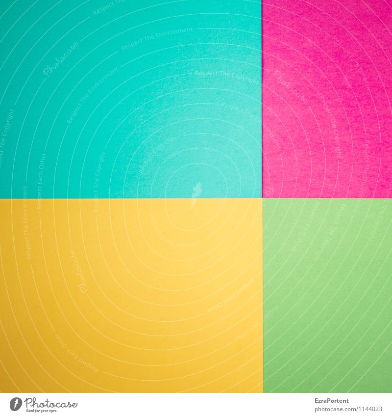 Blue Green Colour Yellow Line Bright Design Esthetic Paper Illustration Violet Graphic Turquoise Geometry Handicraft Difference