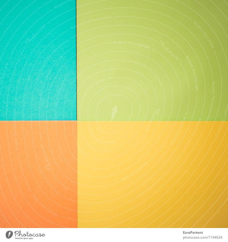 t|G|G|o Design Handicraft Line Esthetic Bright Blue Multicoloured Yellow Green Orange Turquoise Colour Illustration Dividing line Inaccurate Seam