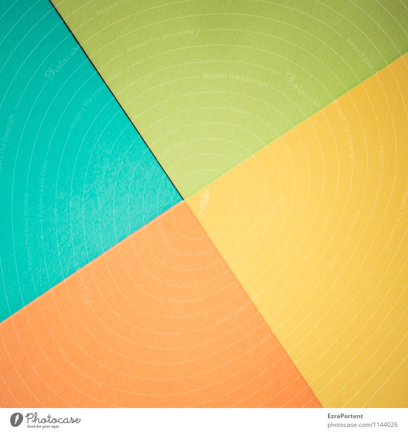 t\g/g\o Design Handicraft Line Esthetic Bright Blue Yellow Green Orange Turquoise Colour Illustration Inaccurate Defective Geometry Diagonal Dividing line