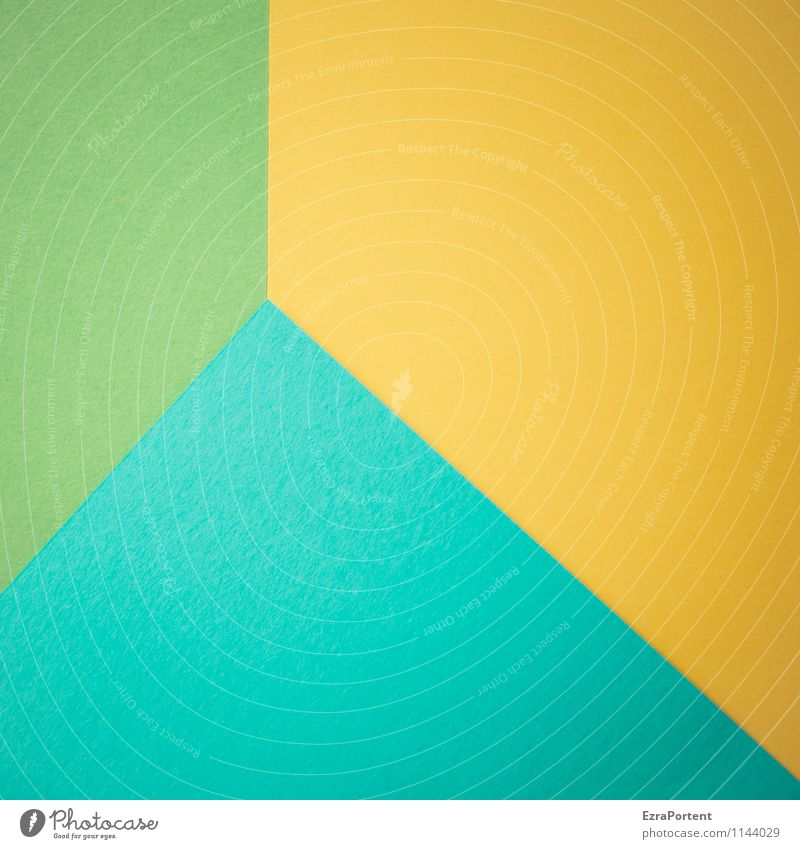 Blue Green Colour Yellow Line Bright Design Esthetic Point Corner Paper Illustration Turquoise Graphic Geometry Difference