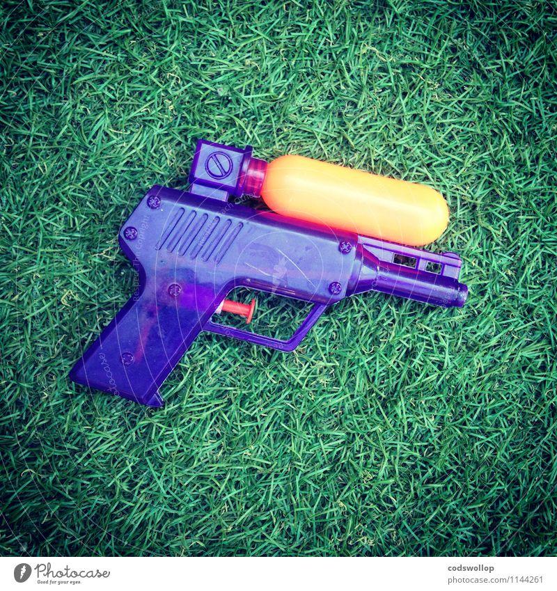 Blue Green Joy Orange Plastic Toys Artificial lawn Water pistol