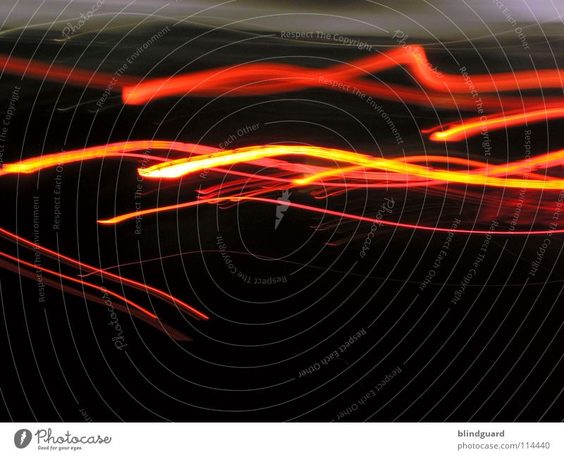 Red And Yellow On The Run Light Rear light Transport White Gray Diffuse Dark Night Abstract Movement Speed Long exposure Boredom Line Evening Bright interwoven