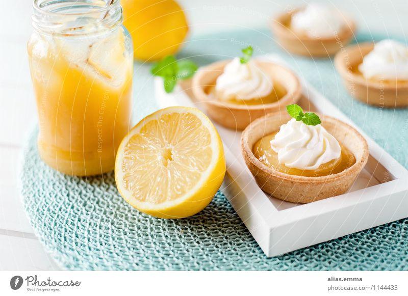 Lemon Curd Tartelettes lemon curd Tartlet Baked goods Cream lemon cream Dessert Dish Eating Food photograph Tradition English American Kitchen To enjoy
