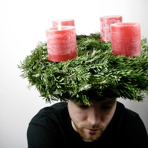 Last Christmas Bits and pieces Candle 4 Winter Fir tree Fir branch Decoration Tradition Alcohol-fueled Superior Headwear Facial hair Man Lips Religion and faith