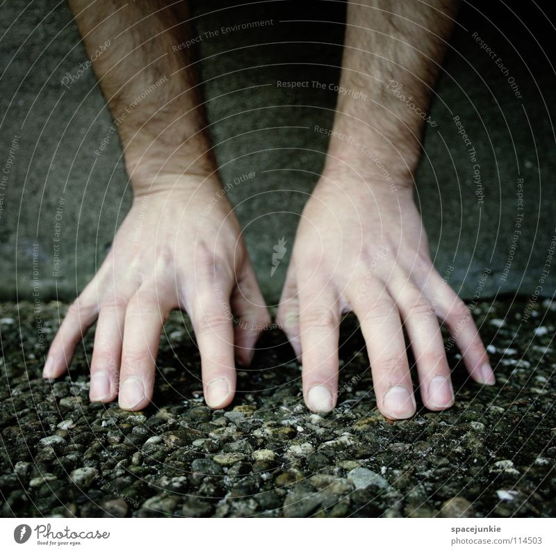 hands (2) Hand Fingers Wall (building) Wall (barrier) Concrete Cold Touch Hover Handstand Whimsical Joy Funny