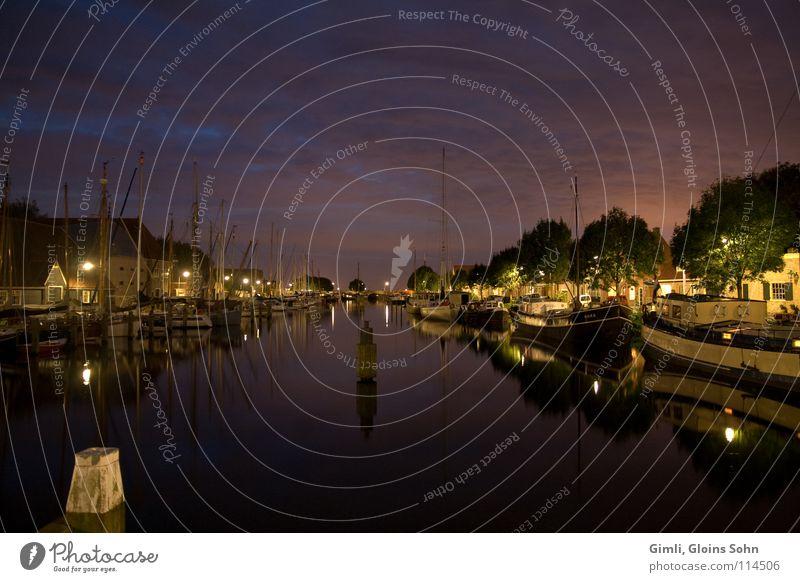 Water Clouds Dark Coast River Harbour Navigation Netherlands
