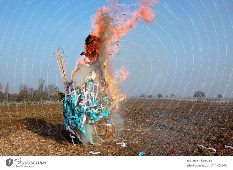 Spring Culture Fire Seasons Smoking Hot Tradition Flame Burn Doll Ritual Snowman