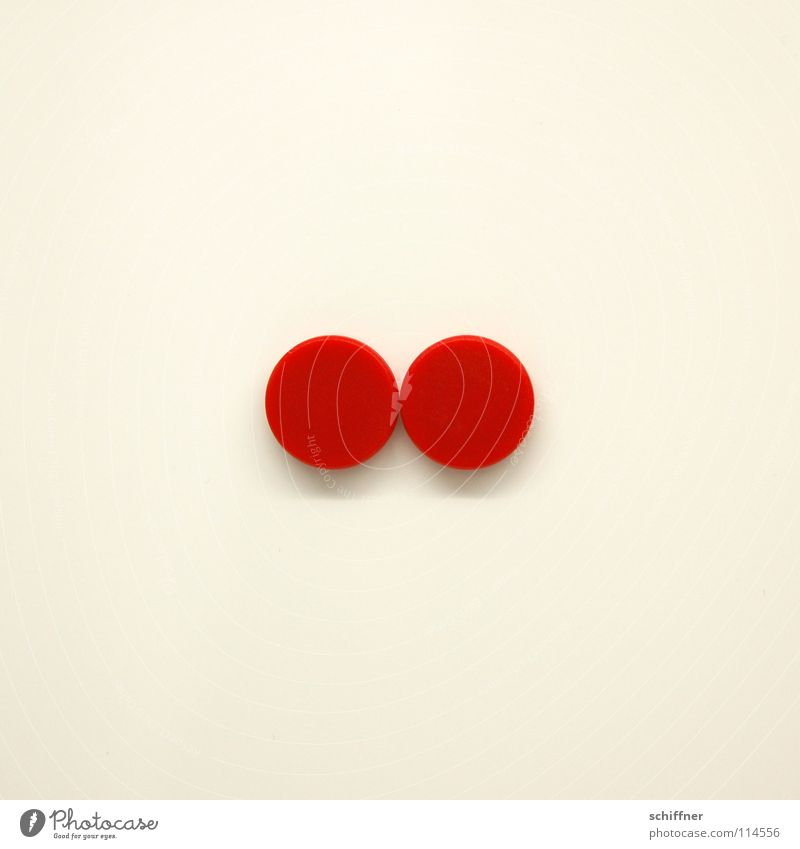 Cocktail tomatoes, corpuating Magnet Circle Round Red Together Matrimony Dual Colon Attachment magnetic board Signs and labeling Point In pairs