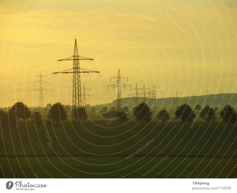 Landscape Environment Energy Railroad Industry Energy industry Electricity Technology Cable Climate Electricity pylon Environmental pollution