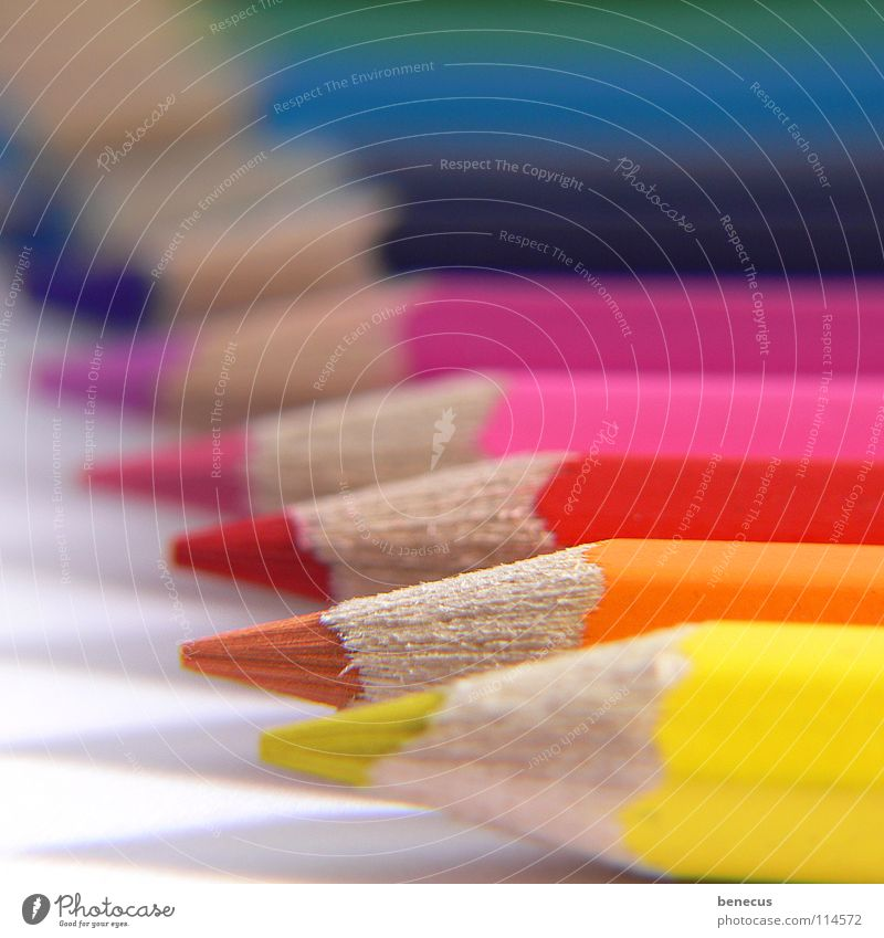 top performance Multicoloured Crayon Sharpened Pointed Yellow Red Pink Depth of field Art Painting equipment Diagonal Beaded Comply Steadfastness Blur