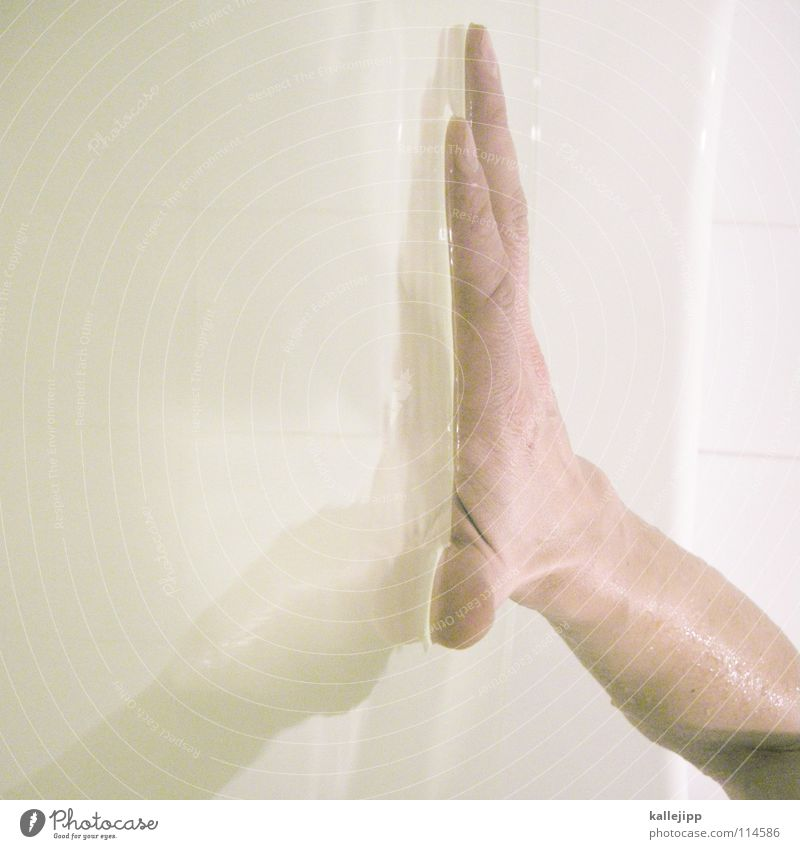can´t touch this Hand Reflection Surface Surface tension Physics Body of water Wellness Bathroom Personal hygiene Baptism Tradition Wet Damp Soap Washhouse