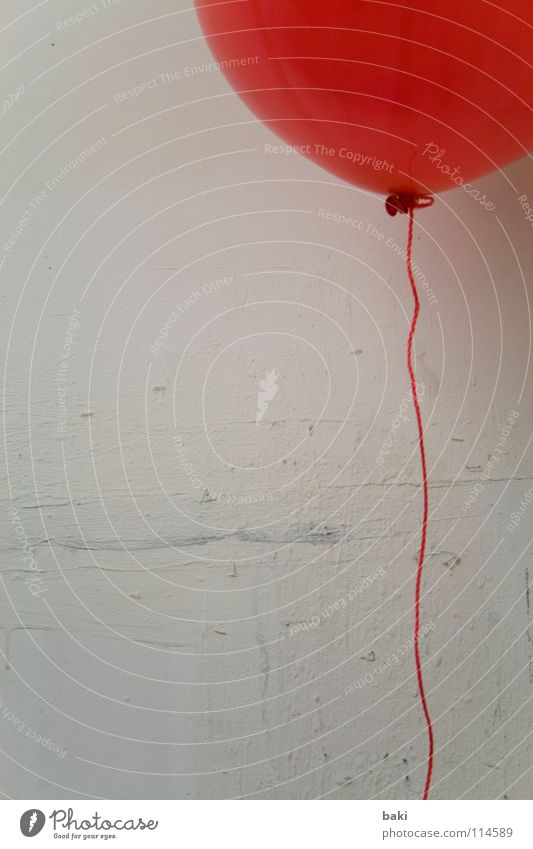 Red Wall (building) Air Art Balloon String Go up Floating Helium Arts and crafts