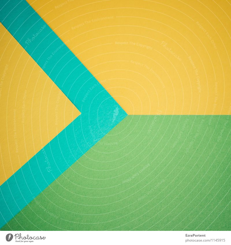 Blue Green Colour Yellow Background picture Line Design Esthetic Point Corner Paper Sign Illustration Arrow Turquoise Graphic