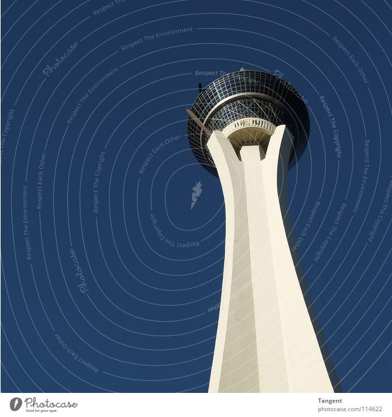 Sky Blue Concrete Modern Vantage point Tower Restaurant Monument Landmark Beautiful weather Lose Poker Casino Las Vegas