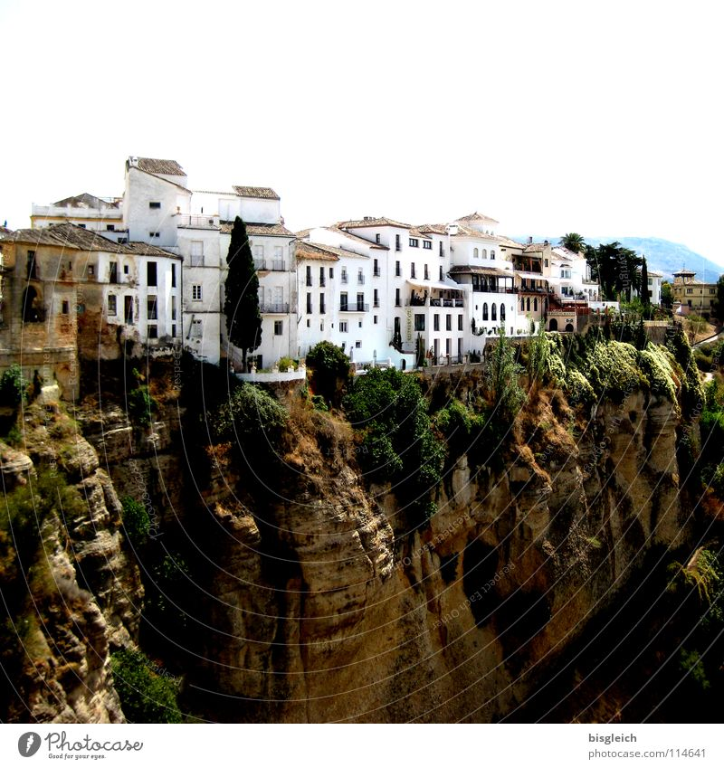 White City House (Residential Structure) Mountain Brown Rock Europe Spain Malaga Tourist Attraction Canyon Andalucia City trip Ronda