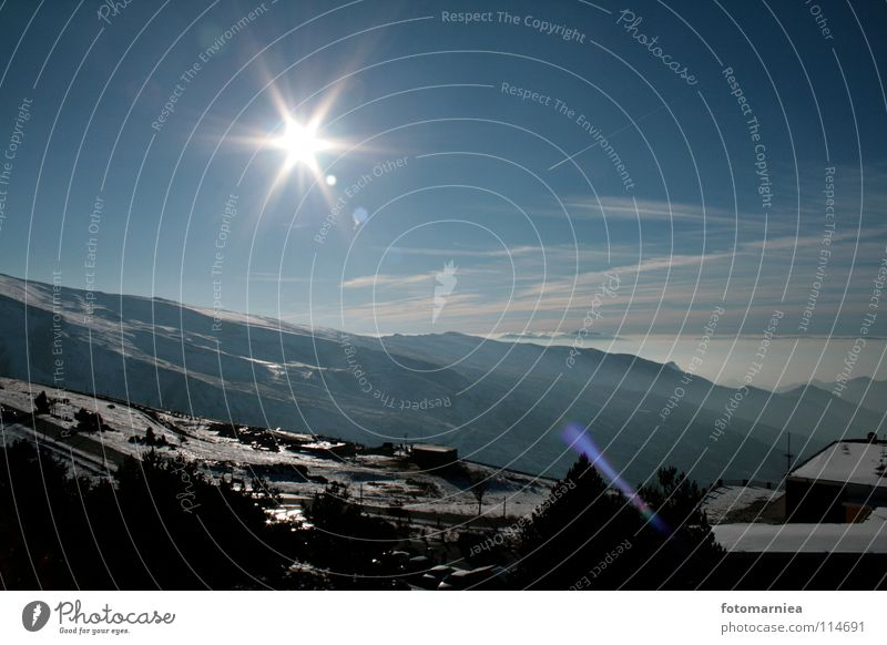starry sky. Nevada Winter sierra Mountain Sky Freedom Sun Star (Symbol) Stars