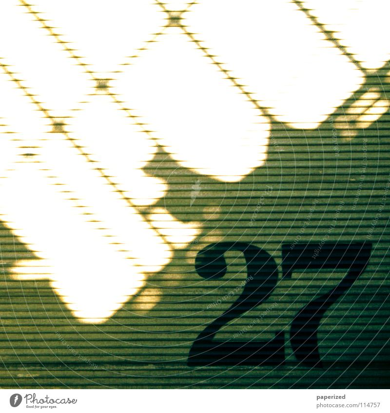 | Lucky Number. Digits and numbers Gray Yellow Light Animal Tin Corrugated sheet iron Black Physics Shadow play Dismantling Dresden Tram Industry 27 Gate Line