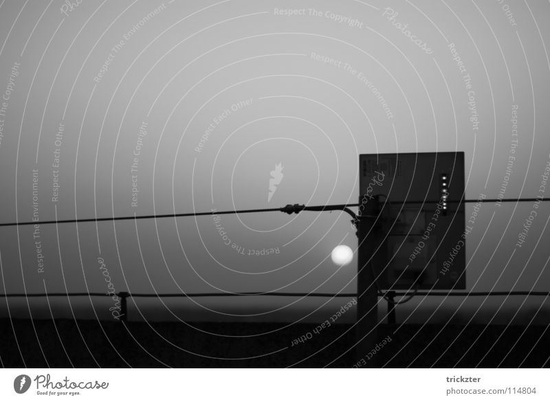 Sun Dark Gray Horizon Cable Electricity pylon