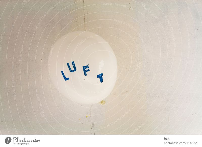 White Blue Wall (building) Air Art Flying Balloon Characters Letters (alphabet) Blow Typography Hover Pistil Arts and crafts  Capital letter