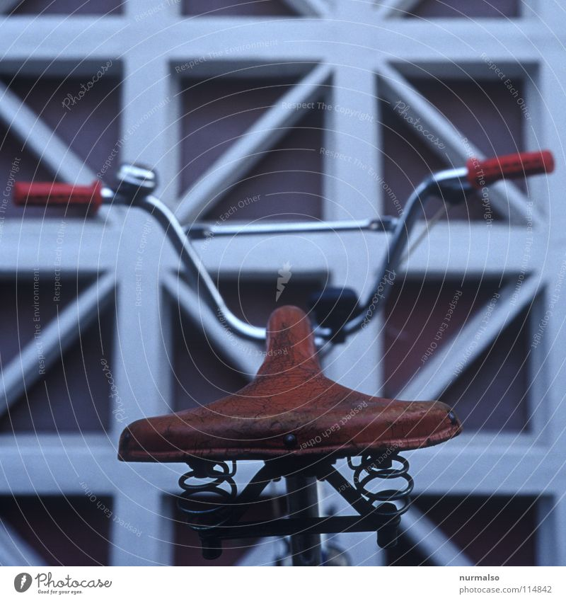 Old Red Lamp Playing Wall (barrier) Brown Bicycle Metal Glittering Feather Castle Obscure GDR Leather Noble Parking