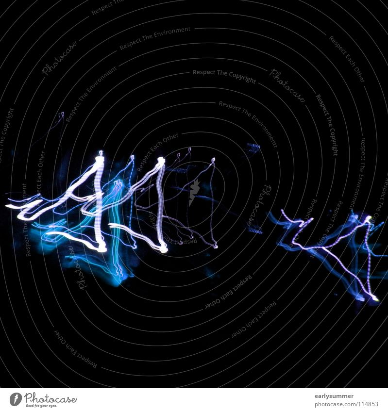 Blue White Colour Dark Street Movement Feasts & Celebrations Lamp Going Bright Ice Music Wild animal Illuminate Dance Signs and labeling