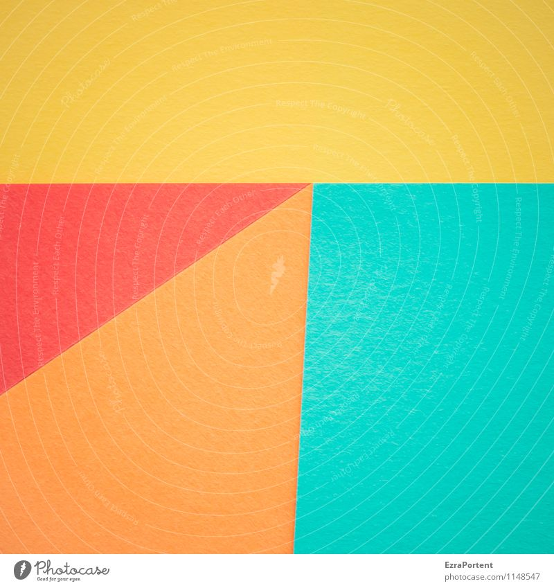 Blue Colour Red Yellow Line Bright Orange Design Esthetic Paper Illustration Many Turquoise Graphic Diagonal Geometry