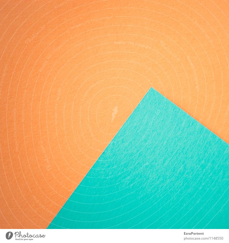 Blue Colour Line Bright Orange Design Esthetic Point Paper Illustration Graphic Diagonal Geometry Handicraft Pyramid