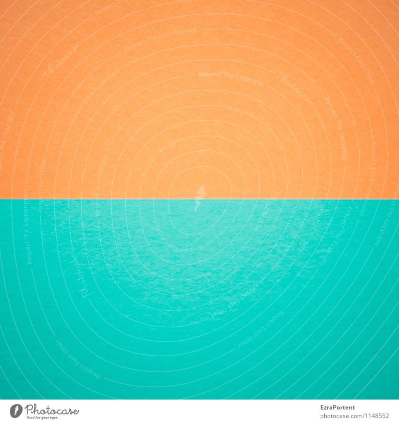 Blue Colour Line Orange Design Esthetic Paper Illustration Turquoise Graphic Geometry Direct Handicraft Horizontal Match