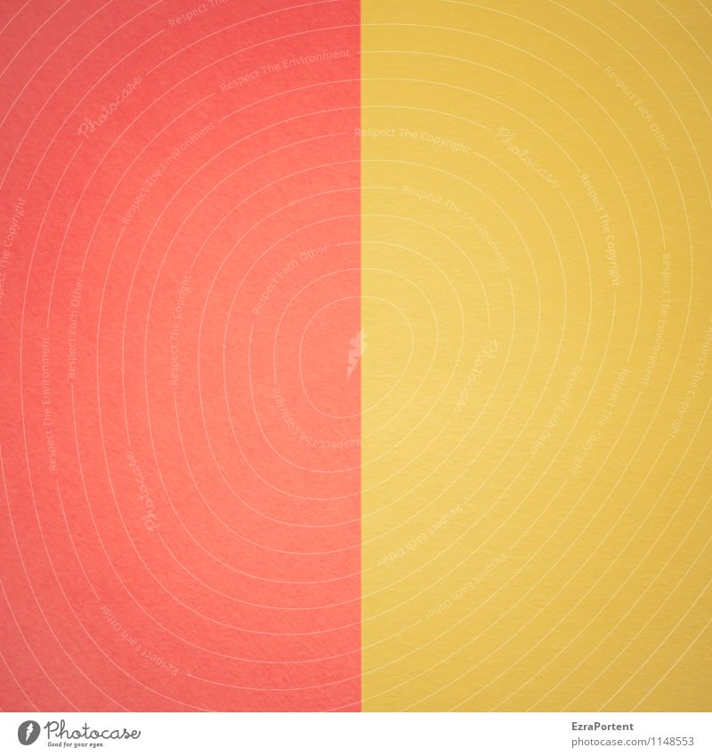 R|G Design Handicraft Line Esthetic Bright Yellow Red Colour Illustration Graph Graphic Geometry Direct Structures and shapes Two-tone Dividing line Paper Match