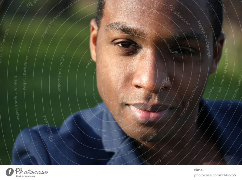 Maurice Masculine Young man Youth (Young adults) 1 Human being Park Jacket Brunette Short-haired Observe Think Looking Wait Beautiful Trust Watchfulness Patient