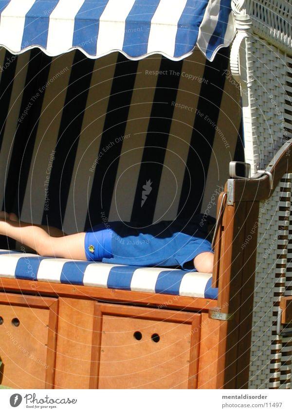 man, I'm tired. Child Beach chair White Wood Sleep Bast Leisure and hobbies Blue