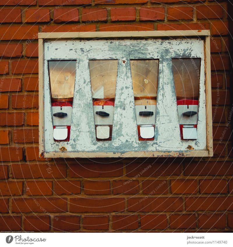 Chewing gum empty Style Design Franconia Collector's item Gumball machine Metal Rust Brick Line Scratch mark Scrape Rectangle Authentic Sharp-edged Firm Broken