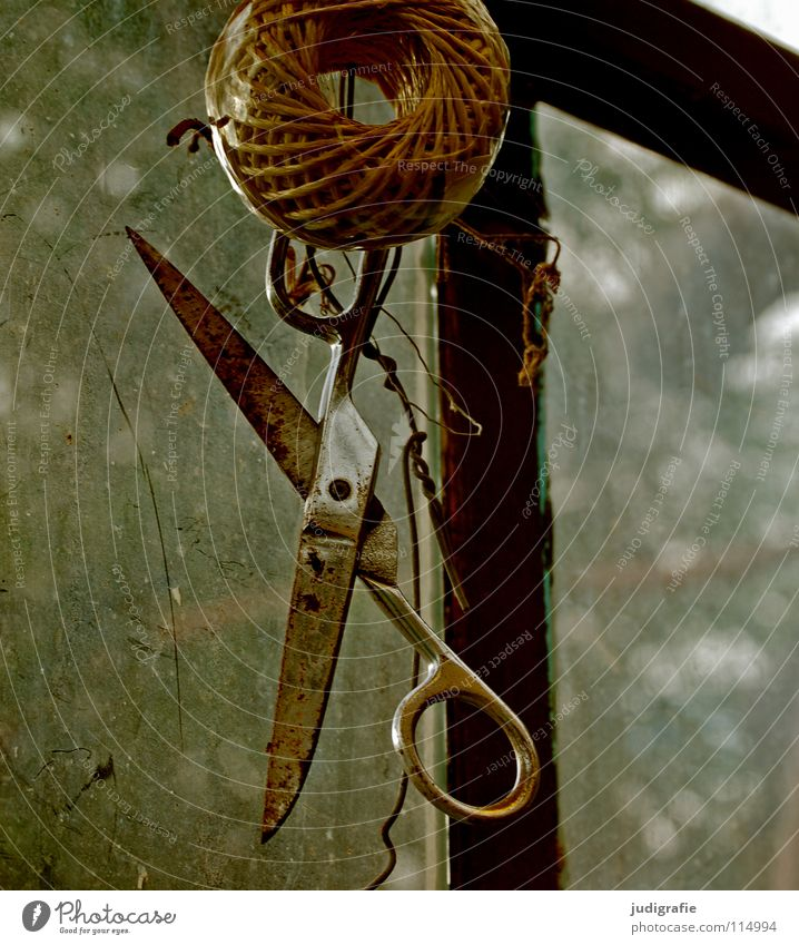 Old Colour Window Garden String Rust Craft (trade) Hang Tool Wire Door handle Coil Sharp thing Cut Scissors Greenhouse