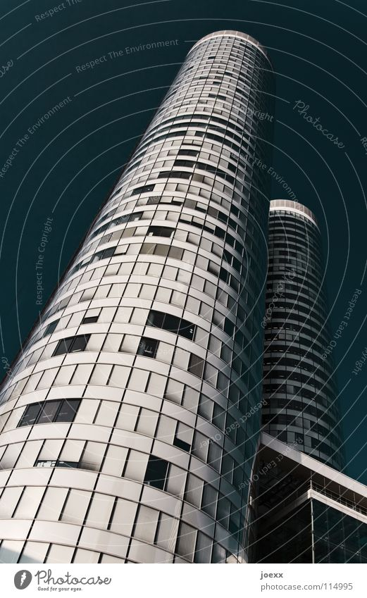 tower 8 Anonymous Ambitious Town Diagonal 2 Loneliness Success Facade Window Corporate building Building Tall Pattern Luxury Round Stress Wall (building) White