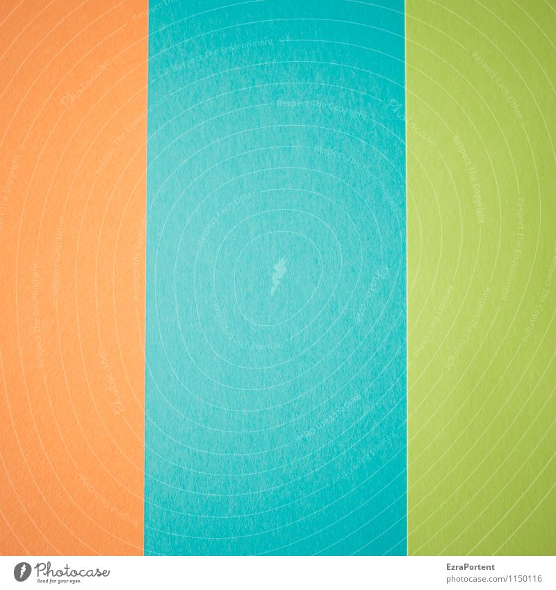 Blue Green Colour Line Bright Orange Design Esthetic Paper Illustration Turquoise Graphic Geometry Direct Handicraft Match