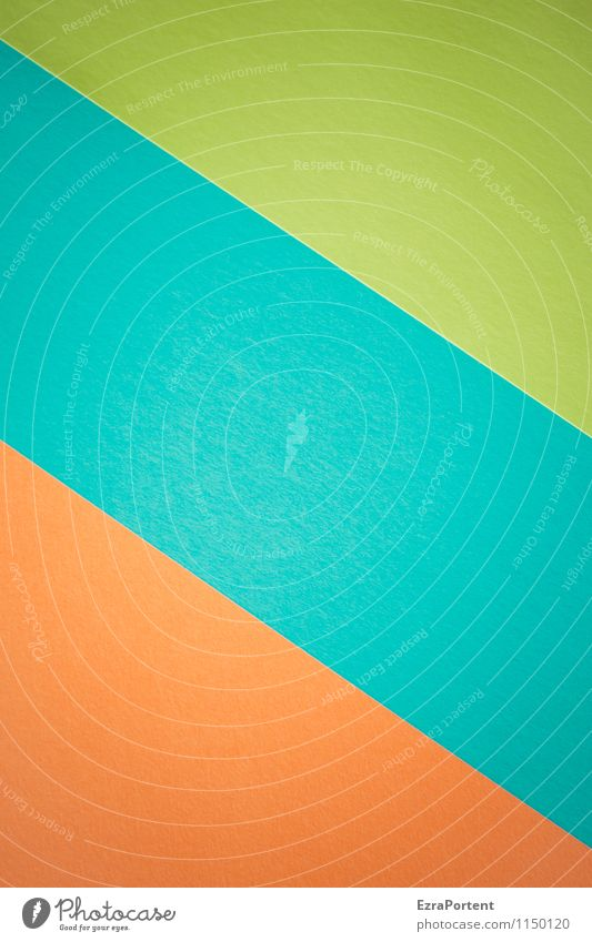 Blue Green Colour Style Background picture Bright Orange Design Esthetic Corner Illustration Graphic Geometry Diagonal Handicraft Match