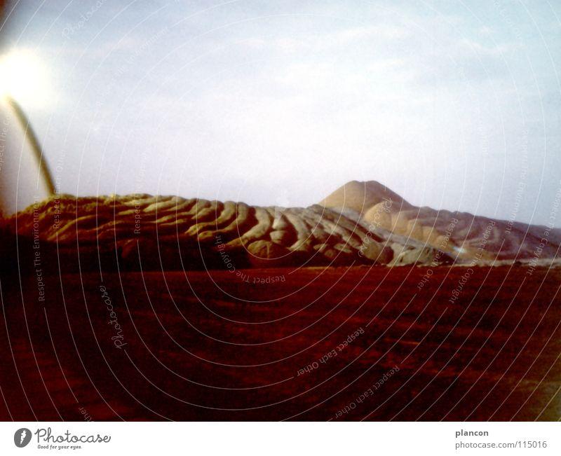 Energy industry Obscure Environmental protection Mining Lignite Slagheap Lunar landscape