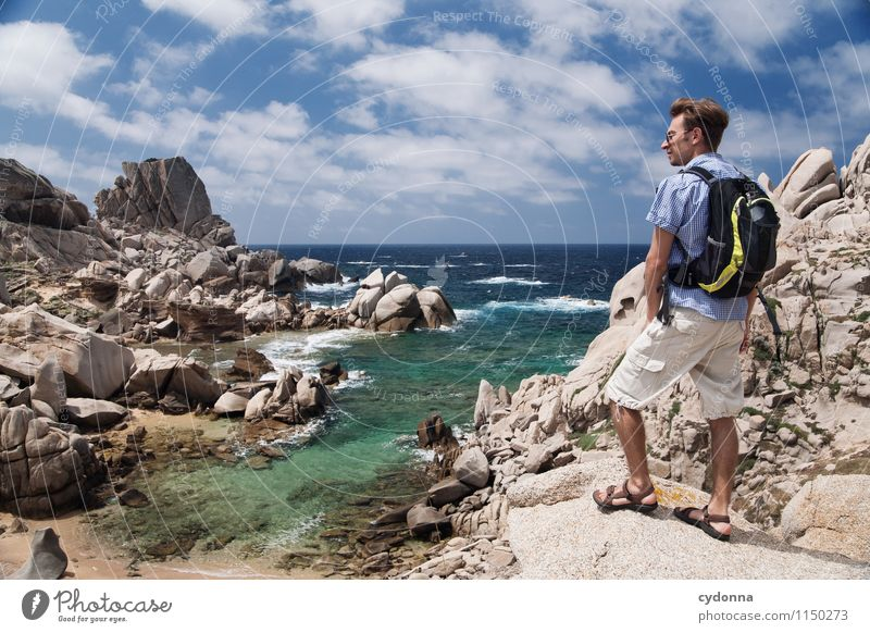 Discover Sardinia Lifestyle Vacation & Travel Tourism Trip Adventure Far-off places Freedom Summer vacation Beach Ocean Hiking Human being Young man