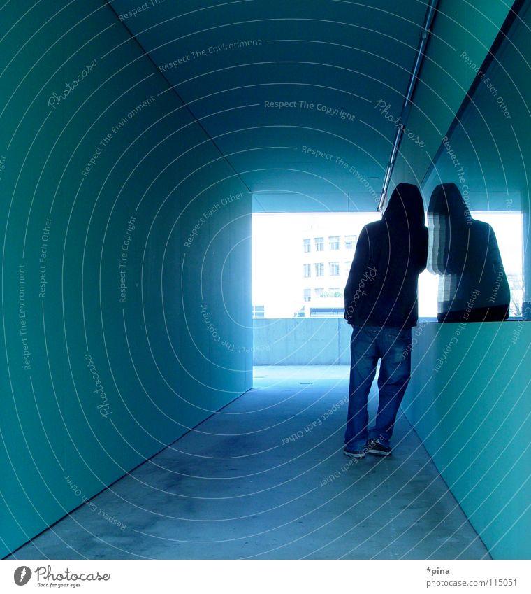 Man Dark Architecture Think Back Wait Masculine Planning Stand Image Target Mirror Mystic Hold Self portrait Corridor