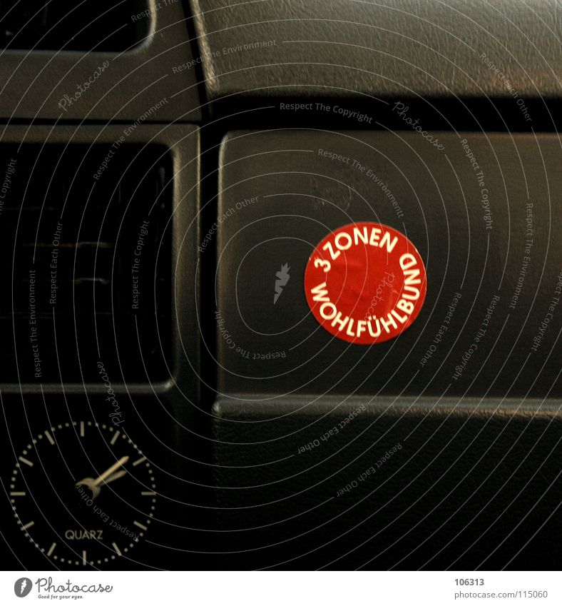 Old Red Joy Black Life Car Time 3 Clock Circle Signage Digits and numbers Wellness Plastic Protection Motor vehicle