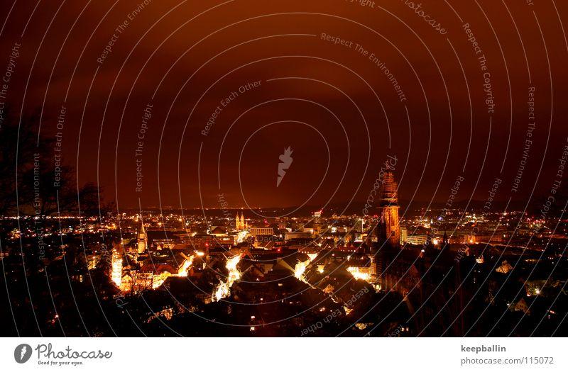 Sky City Winter House (Residential Structure) Dark Lamp Münster Freiburg im Breisgau