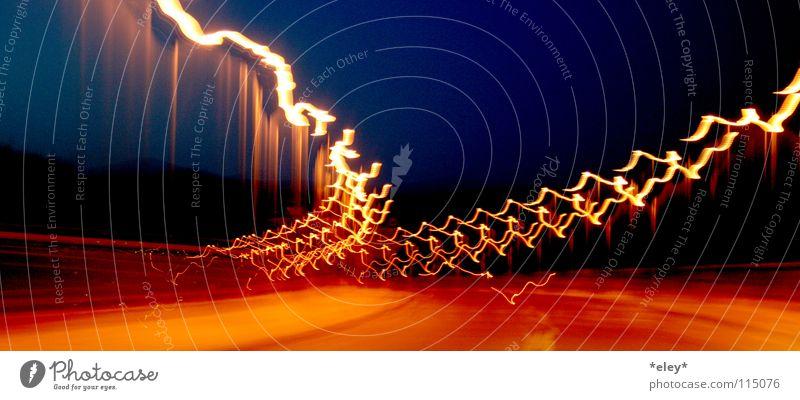 Sky Blue Red Black Street Freedom Emotions Orange Leisure and hobbies Blaze Transport Speed Bridge Driving Asphalt Lightning