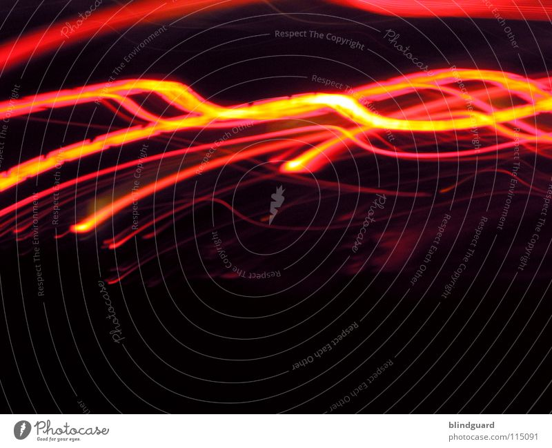 Red And Yellow On The Run II Light Rear light Transport White Gray Diffuse Dark Night Abstract Movement Speed Long exposure Boredom Car Line Evening Bright