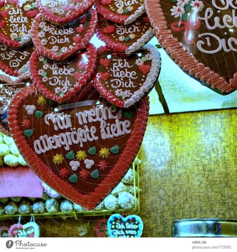 Joy Love Nutrition Feasts & Celebrations Heart Stand Sweet Kissing Candy Fairs & Carnivals Cake Odor Sugar Baked goods Oktoberfest Bite