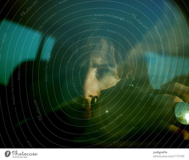 freeway Mirror Rear view mirror Reflection Driving In transit Highway Woman Hand Jewellery Backward Portrait photograph Colour Transport Car Street Camera