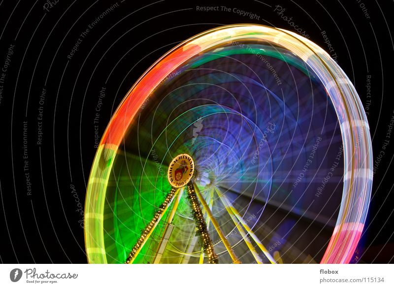 Joy Colour Lamp Feasts & Celebrations Large Circle Round Monument Steel Fairs & Carnivals Rotate Landmark Markets Multicoloured Ferris wheel Carousel