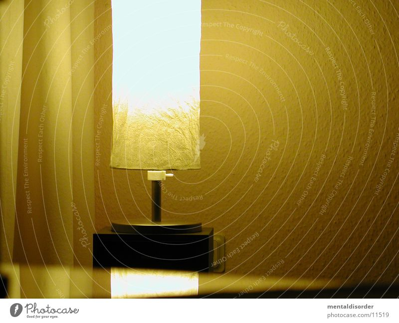 light Lamp Yellow Paper Wall (building) Cozy Living or residing