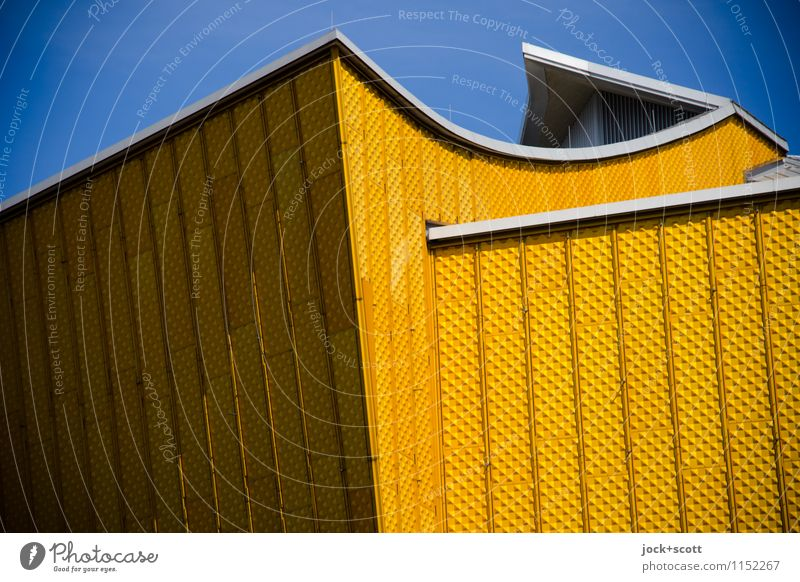 Godly angle Architecture Cloudless sky Berlin zoo Playground Facade Tourist Attraction Berlin Philharmonic Point Exceptional Famousness Elegant Large Modern