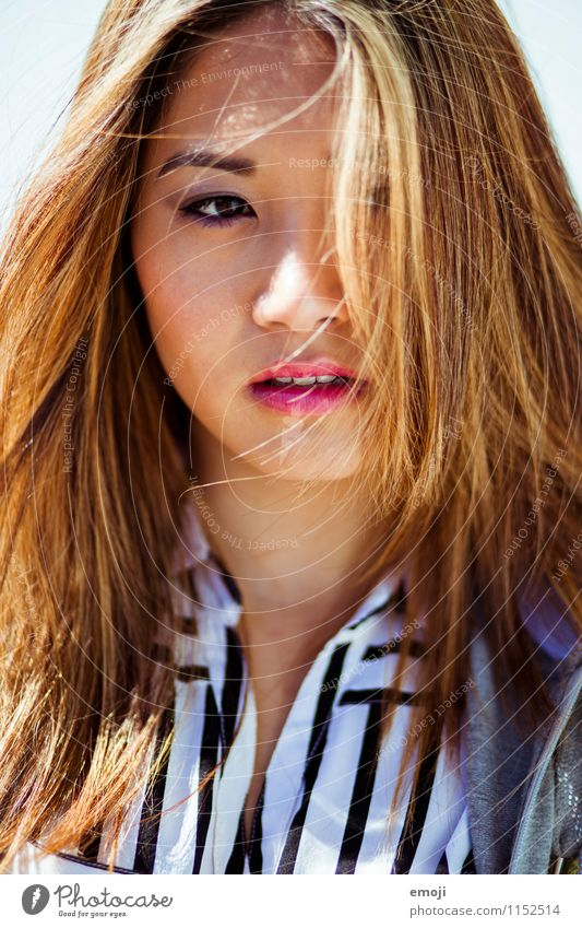Human being Youth (Young adults) Beautiful Young woman 18 - 30 years Adults Face Feminine Hair and hairstyles Asians